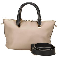Chloe Beige Leather Mini Baylee