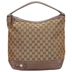 Gucci Brown x Beige x Brown Guccissima Jacquard Handbag