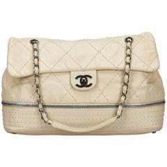 Chanel Ivory Expandable Ligne Flap Bag