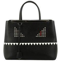 Fendi 2Jours Monster Handbag Leather Medium