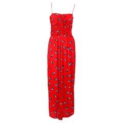 Vintage GUY LAROCHE 1970s Long Jersey Dress