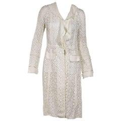 Dolce & Gabbana White Lace Coat