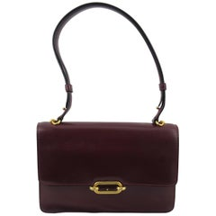 Hermes Vintage Bag Fontbelle Burgundy Box leather, 1960s