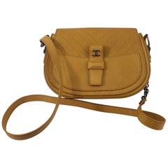 Chanel shoulder or Crossbody brown Grained Leather Bag