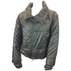 Stella McCartney Green Quilted Cropped Coat