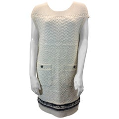 Chanel White Cashmere Knit Dress