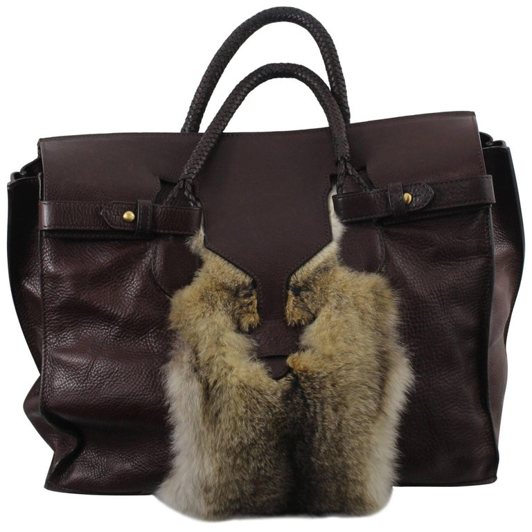Loewe Limited Edition Leather and Fur Travel Bag, 2007