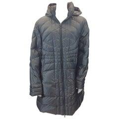 Moncler Grey Nylon Coat