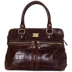 Modalu Burgundy Embossed Croc Handle Bag with DB