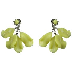 Miriam Haskell Glass Earrings