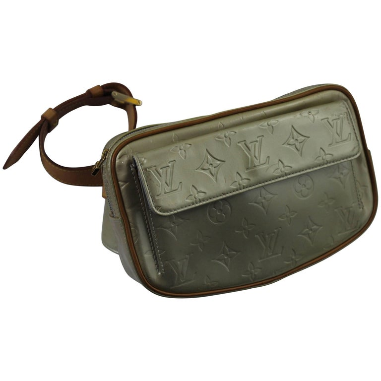 Louis Vuitton Green Patented Leather Bum Bag