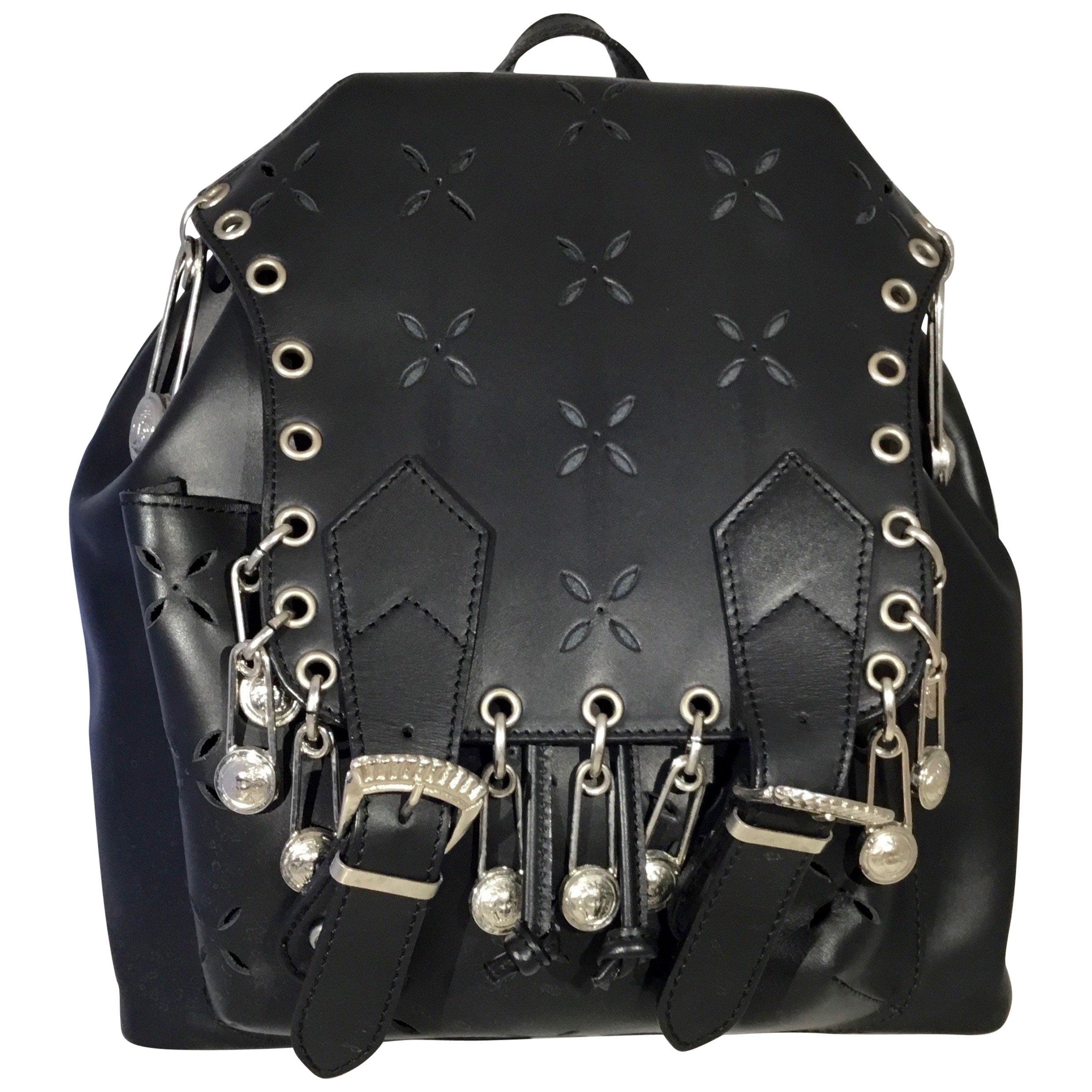 6865fa2909 Gianni Versace 1994 Medusa Safety Pin Vintage Backpack Bag at 1stdibs