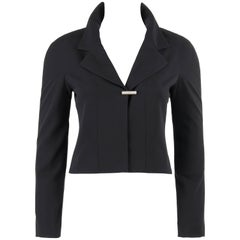 CHANEL A/W 1999 Black Wool Dolman Sleeve Cropped Classic Blazer Jacket