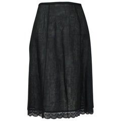 Jacques Fath Paris Transparent Linen A-Line Skirt, 1990s