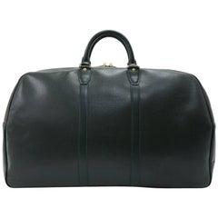 Louis Vuitton Vintage Kendall GM Green Taiga Leather Travel Bag