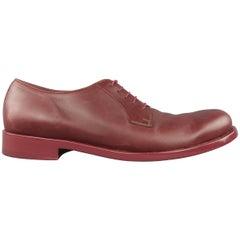 Men's JIL SANDER Shoes Size 10 Oxblood Burgundy  Leather Lace Up