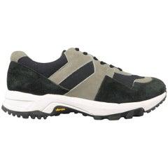 Men's ATTACHMENT Size 10 Black & Grey Two Toned Suede Vibram Sole Sneakers