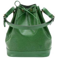 Louis Vuitton Vintage Noe Large Green Epi Leather Shoulder Bag
