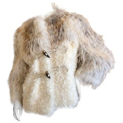 Christian Dior by John Galliano Vintage Fox and Lamb Fur Toggle Jacket