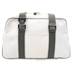 Chanel Sports Line White Canvas Boston Bag