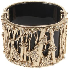 Chanel Black Resin Encrusted Forest Cuff, Autumn 2011