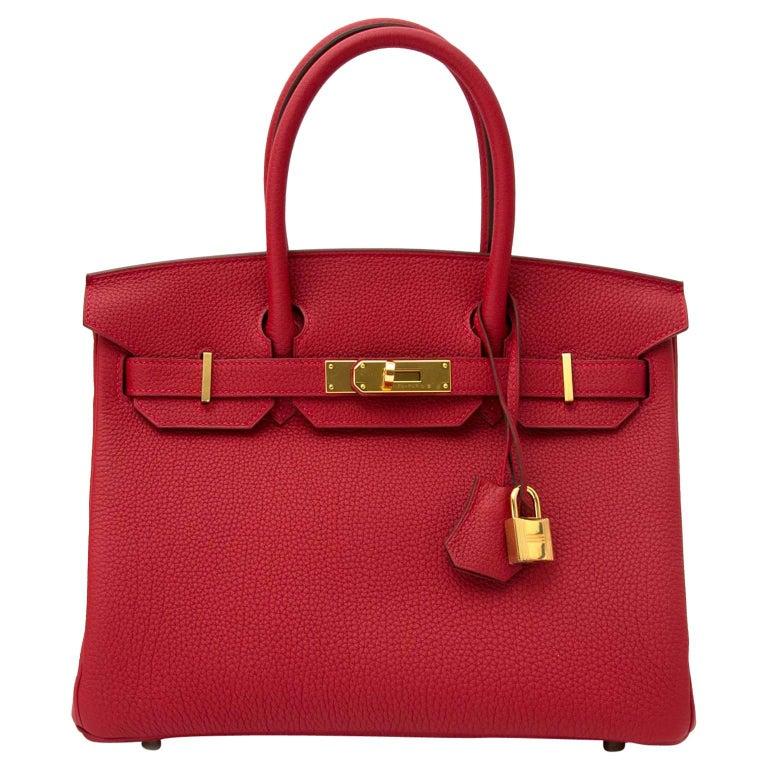 Hermès Birkin 30 Togo Rouge Vif GHW
