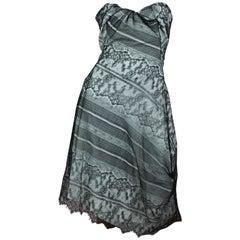 "Vivienne Westwood Gold Label ""Paper Bag Dress"" in Black Lace Size IT 40 / US 4"
