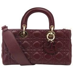 Dior Bordeaux Lambskin Runway Bag