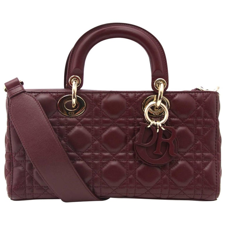 Dior Bordeaux Lambskin Runway Bag