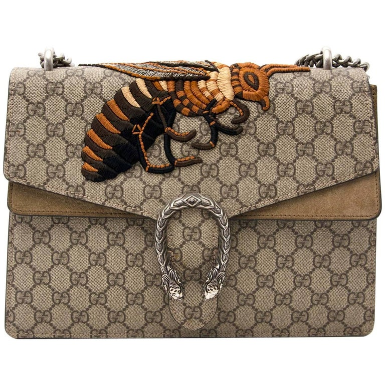 Gucci Monogram Bee Dionysus Medium shoulder bag