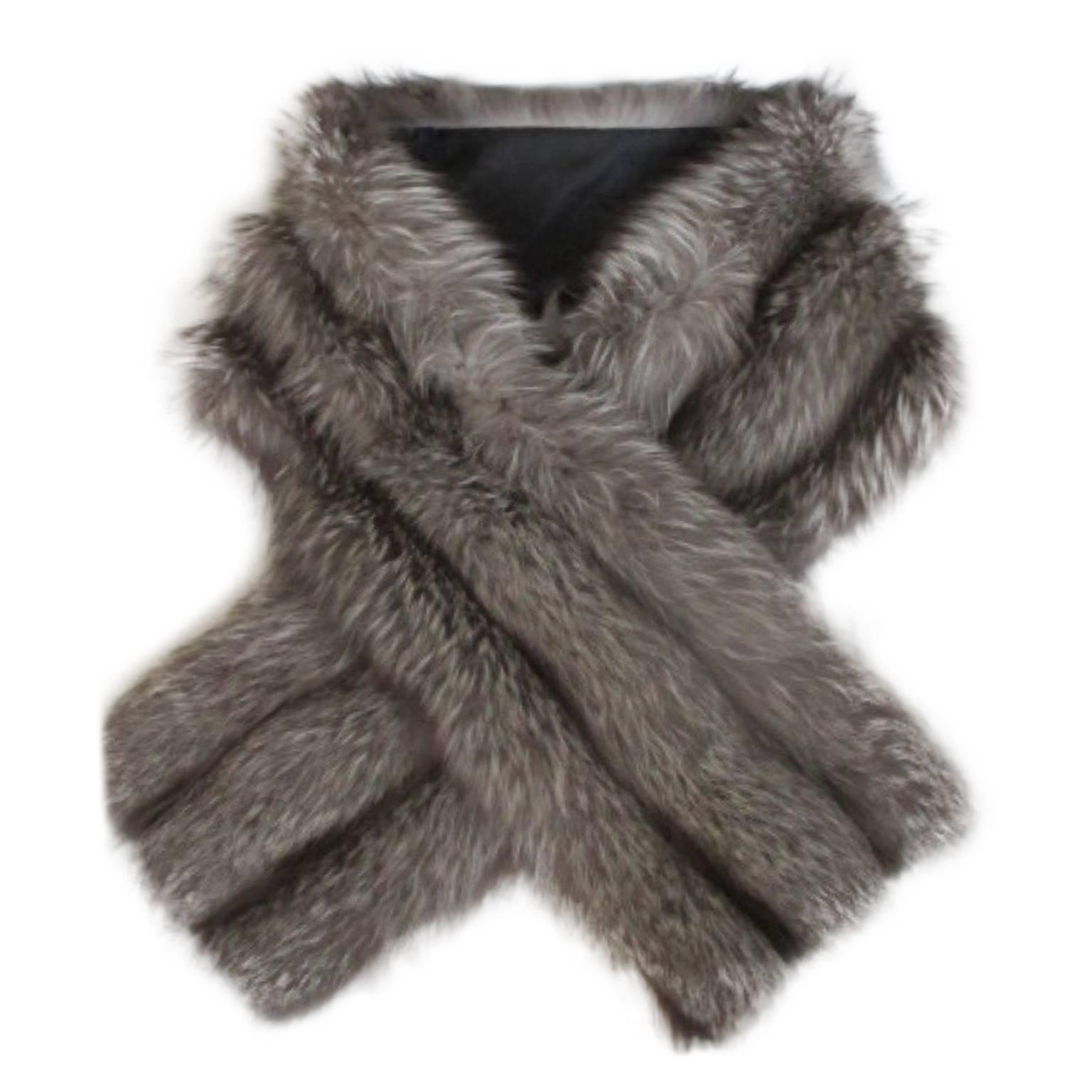 Silver Fox Vintage Fur Stole
