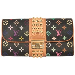 LOUIS VUITTON Black MULTICOLORE Canvas COURTNEY Clutch Bag