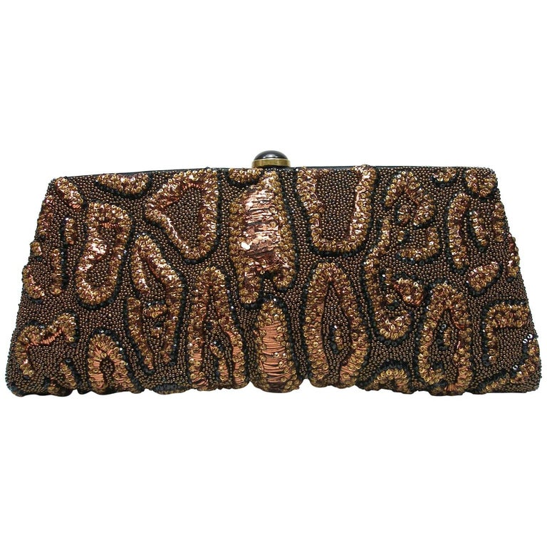Fantastic & Collectible Era Tom Ford for YSL Beaded and Sequins Clutch  For Sale