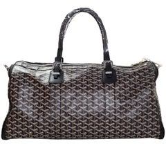 Goyard Black Chevron Croisiere 50 Duffle Travel Bag NEW