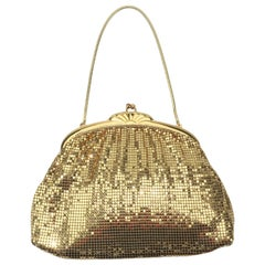 Classic 1950's Whiting & Davis Gold Mesh Evening Handbag