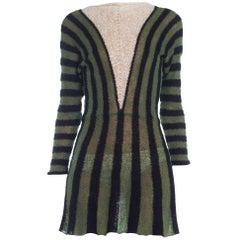1970 Knit striped dress