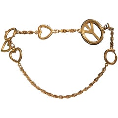 Moschino Gold Charm Chain Belt