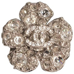 Chanel Swarovski Crystal Camellia Ring