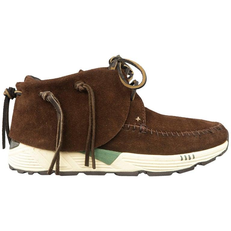 VISVIM Size 9.5 Brown Suede FBT PRIME Moccasin Sneaker Boots