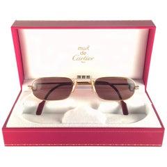 New Vintage Cartier Demilune Santos Medium 50mm Reading France Sunglasses
