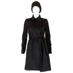 1990s Celine Black Cashmere and Wool Coat