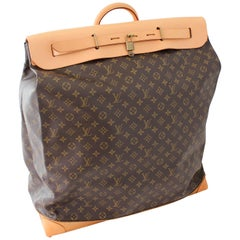 Louis Vuitton Monogram Large Steamer Bag 55cm Duffle Luggage Travel Trunk 90s