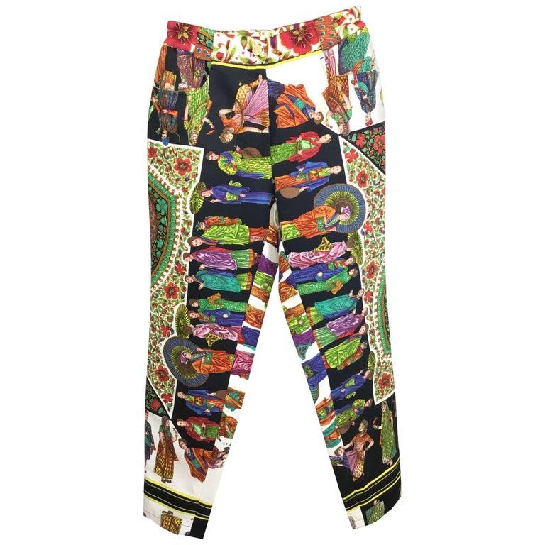Gianni Versace Couture Print Vintage Pants