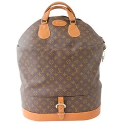 Louis Vuitton Large Steamer Bag Monogram Travel Tote Keepall Neiman Marcus 70s
