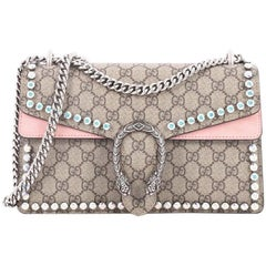 Gucci Dionysus Handbag Crystal Embellished GG Coated Canvas Small