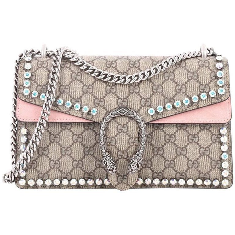 4a7c247b56e Gucci Dionysus Handbag Crystal Embellished GG Coated Canvas Small For Sale