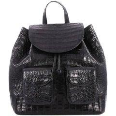 Nancy Gonzalez Double Pocket Backpack Crocodile Medium