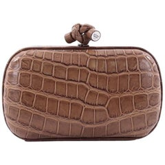 Bottega Veneta Box Knot Clutch Crocodile Small