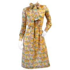 1960s Lanvin Floral Button Up Dress