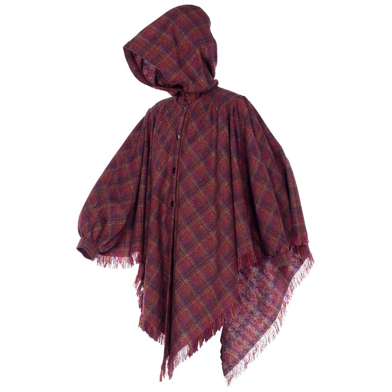 Missoni 1970 Wool hooded Cape Style with Arm Sleeves